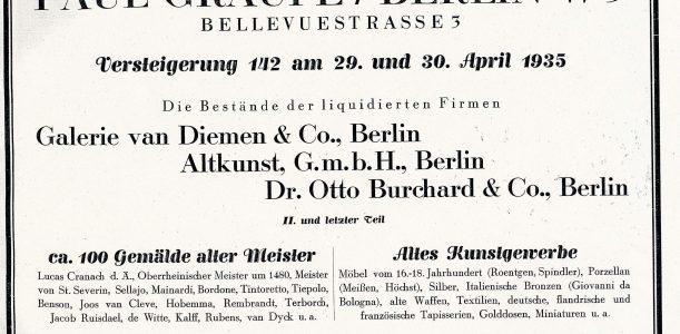 Internetdokumentation Berliner Kunstauktionen