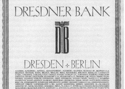 Geschichte der Dresdner Bank