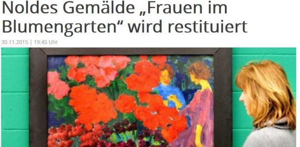 """Provenienz des Gemäldes """"Frauen im Blumengarten"""" von Emil Nolde"""