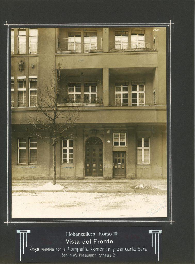 Building at Berlin, Hohenzollernkorso 10, now Manfred-von-Richthofenstrasse, undated