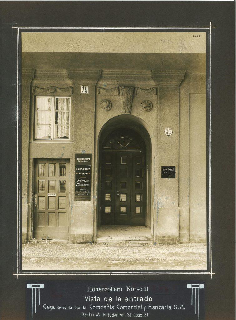 Gebäudeansicht Berlin, Hohenzollernkorso 11, heute Manfred-von-Richthofenstrasse.