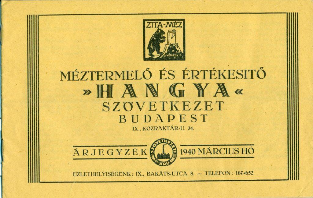 Werbeanzeige der Hangya, Budapest, 1940.