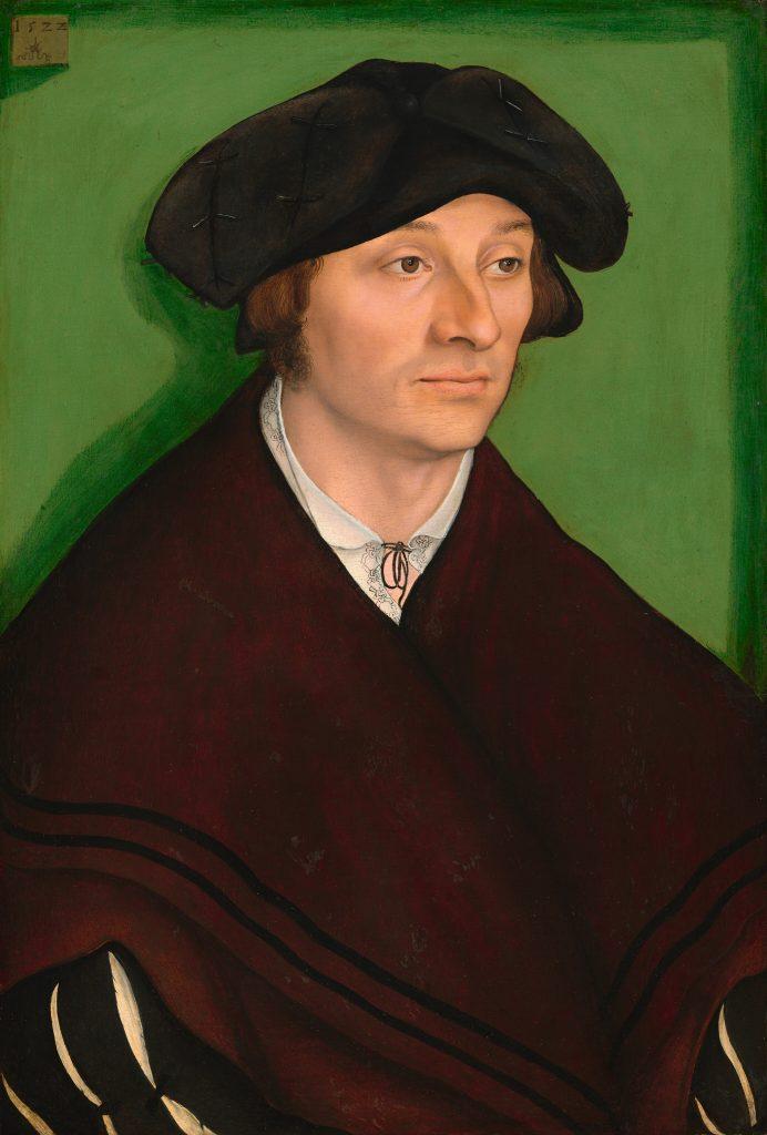 Lucas Cranach, der Ältere: Portrait eines Mannes, 1522